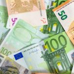 background made of euro banknotes P6MHSTP